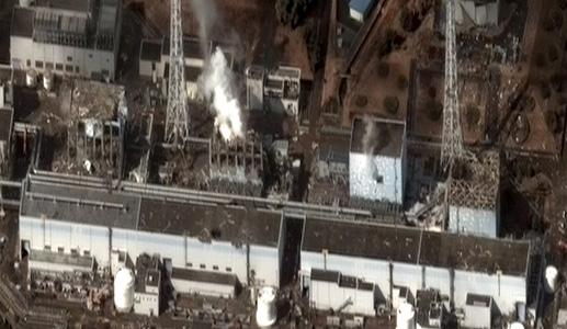 Фото разрушенной АЭС Фукусима-1 сделанный американским военным беспилотным самолётом